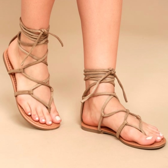 fe9fe48b06247c  3 for  12  Lulus Tie-Up Flat Sandals